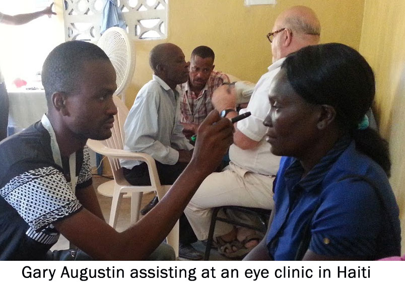 Gary Augustin at an Eye Clinic