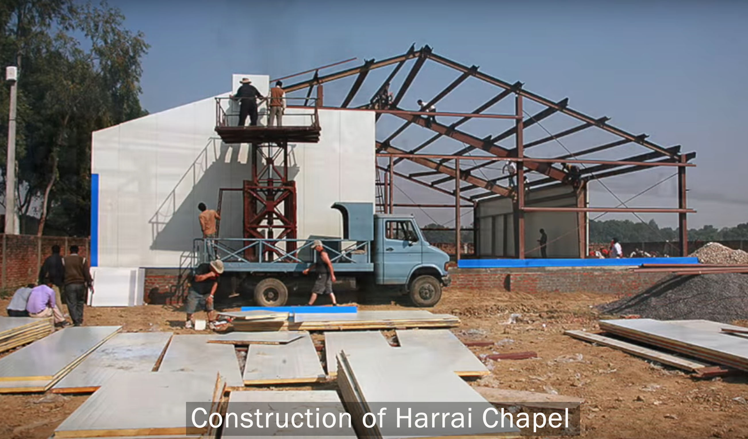 Harrai chapel construction